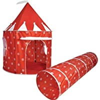 Kids Kingdom Pop-up Red Polka Dot Play Tent & Tunnel by spirit of air