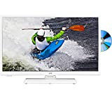 JVC LT-32C666 Smart 32' LED TV with Built-in DVD Player - White