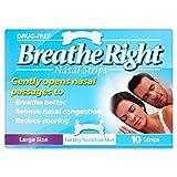 6 x Breathe Right Nasal Strips Large Size for Dry/Sensitive Skin 10 Strips