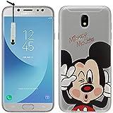 Tienda vcomp® Transparente silicona TPU funda Carcasa con diseño de dibujos animados Disney ¡Feliz Navidad. Para Samsung Galaxy J5Pro (2017) j530y/DS