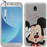 Funda transparente de silicona VComp-Shop®, funda de silicona para móvil, con estampado de dibujos de Disney, feliz Navidad, para Samsung Galaxy J5 Pro (2017) J530Y/DS