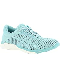 ASICS Women's fuzeX Rush Adapt Running Shoe Porcelain Blue/White/Smoke Blue 6.5 (S)