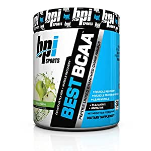 BPI Sports Best BCAA Peptide Linked Branched Chain Amino Energy Powder, Green Fusion, 30 Servings