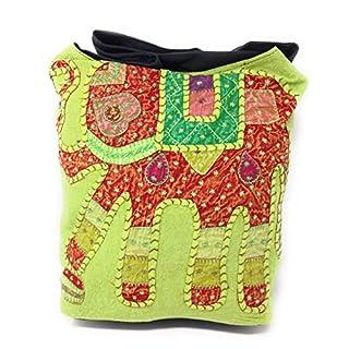 AGAS OWN Umhängetasche Stoffbeutel Schultertasche Beuteltasche Freizeittasche mit Reißverschluss AG-11 (Hellgrün)