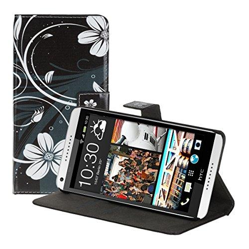 kwmobile HTC Desire 816 Hülle - Kunstleder Wallet Case für HTC Desire 816 mit Kartenfächern und Stand