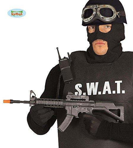 - SCHNELLFEUERGEWEHR - 56 cm, Waffen Fake S.W.A.T US FBI Spezialeinsatzkräfte (Fbi Halloween Kostüm Männer)