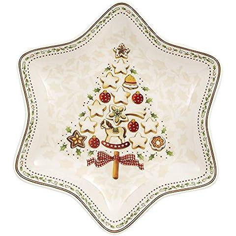 Villeroy Boch Winter Bakery Delight & Cuenco Tamaño Mediano, Diseño de Árbol de Navidad Porcelana, Rojo, 27 x 22 x 4 cm