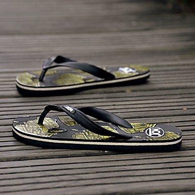 Unisex Sandalen Sommer Sandalen Stoff beiläufige flache Ferse Anderes Schwarz / Blau / Grün / Orange Ot Sandalen US10.5 / EU43 / UK9.5 / CN45