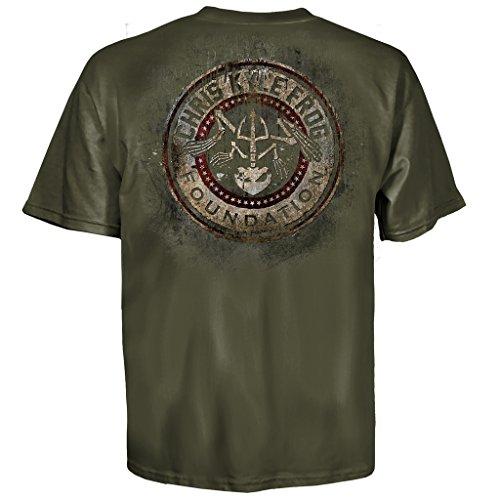 Chris Kyle Frog Foundation Circle and Stars Military Grün T-shirt (Erwachsene Medium) (Military Grün T-shirt Erwachsene)