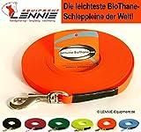 BioThane® Schleppleine für sehr kleine Hunde, 9 mm Ultra Thin (1-30 Meter [10 m], 6 Farben [Neon-Orange], GENÄHT, ohne Handschlaufe)
