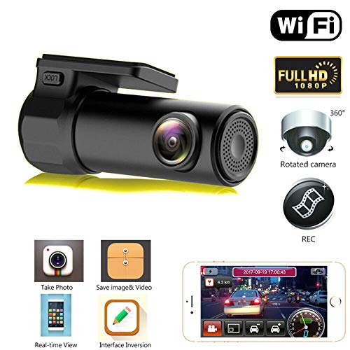 Gebuter Mini HD 1080P WiFi Dash Cam Car DVR Camera Video Recorder Wide Angle G-Sensor Motion Detection