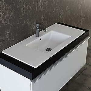vilstein keramik einbau waschbecken einsatz waschbecken waschtisch becken handwaschbecken 100. Black Bedroom Furniture Sets. Home Design Ideas