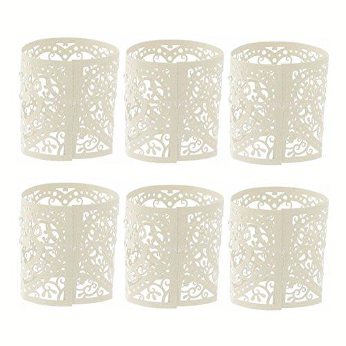 Lumanuby 10x Kleine Hohl Lampenschirm aus Papier Delicate Blume Lantern für LED Licht Hochzeit/Party/Bar Zubehör, Laterne Serie (Weiß)
