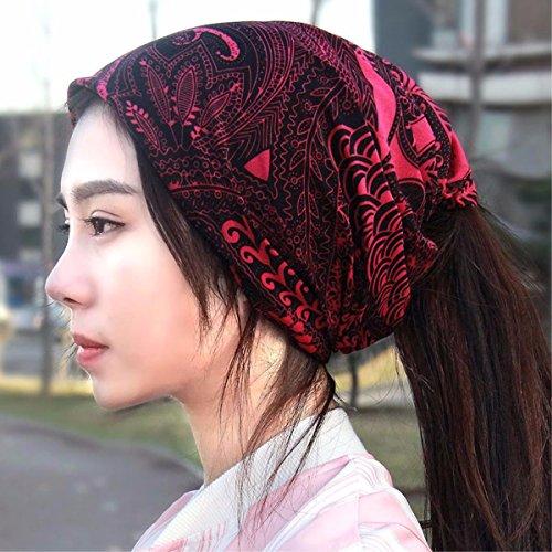 XINQING-MZ Im Herbst einen Hut Schal Kappe, die GAP auf eine Glatze Nachrüstsatz Klimaanlage auch storehouse Cap atmungsaktive Tide, rot