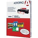 ACROPAQ pochettes de plastification A4 - 80 microns - Transparant - Pack de 100