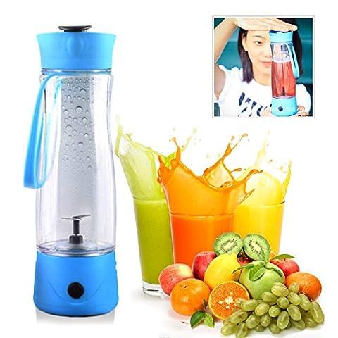 Netspower Mini Elektrischer Entsafter Tragbar Saftpresse Wiederaufladbare 350ml Power Juicer für Obst Gemüse Mischer Sportflasche für Kaffee Milch
