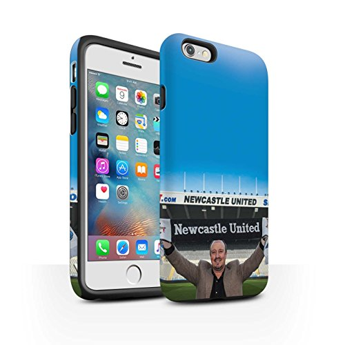 Officiel Newcastle United FC Coque / Matte Robuste Antichoc Etui pour Apple iPhone 6S+/Plus / Pack 8pcs Design / NUFC Rafa Benítez Collection Bienvenue