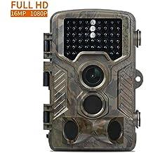 Caméra de Chasse Fivanus 16MP 1080P HD Caméra Animaux de Surveillance 120°Grand Angle Imperméable IP56 Piège Photographique 20M Vision Nocturne Infrarouge 46 LEDs IR Basse Luminosité Camera de Surveillance