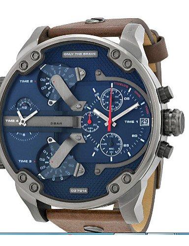 Neuheiten DZ Uhren Herren von hoher Qualität Digital Sport schauen Uhren des Quartz militärischen DZ7314rejoles Montre Homme, Brown
