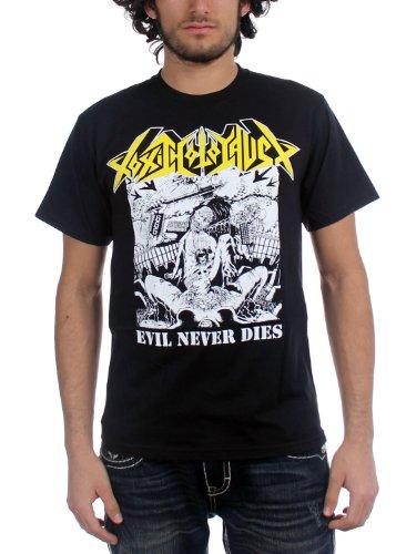 Toxic Holocaust-Evil Never Dies-Maglietta da uomo nero Small