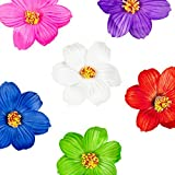 Image for board game Super Z Outlet Hula Girl Paper Foam Hibiscus Color Assorted Flower Lei Hawaiian Island Rainforest Theme Hair Clips for Costume, Birthday Party Favors, Event Decoration Supplies (12 Pack)