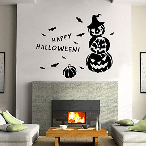 wukongsun Happy Halloween Fledermaus Laterne Wandaufkleber Vinyl Familie Party Dekoration Design Applique Removable Tapete 50 cm X 42 cm