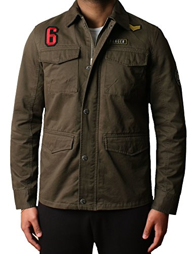 uomo-progettista-militare-twill-al-di-sopra-camicia-giacca-hartford-bang-dmw017cachixl