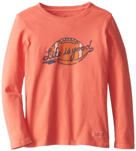 Life is Good Kleinkinder Crusher ballyard Fußball Long Sleeve Tee XX-Small Sunset Coral (Kleinkind Crusher)