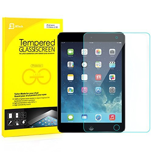 JETech 0336-sp-mini-glass Clear Screen Protector iPad Mini 1/2/3 1pc (S) Screen Protector – Screen Protectors (Clear Screen Protector, Apple, iPad Mini 1/2/3, scratch-resistant, transparent, 1 PC (S))