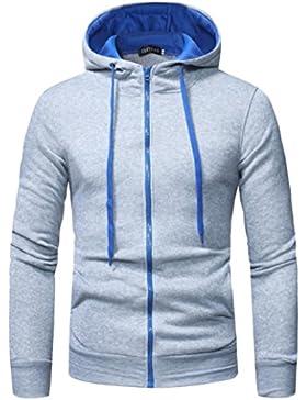 SHOBDW Hombres de manga larga sudadera con capucha camiseta Tops chaqueta abrigo ropa