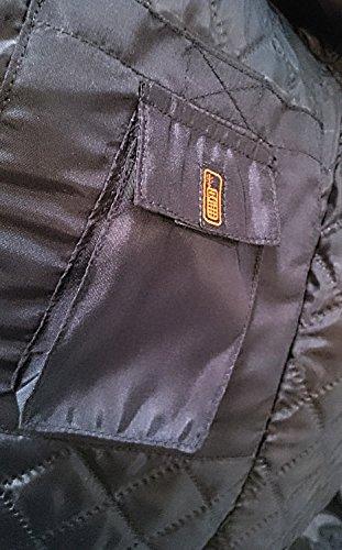 Schwarze Motorradjacke mit Protektoren, Belüftungssystem, Klimamembrane und herausnehmbarem Thermofutter - 4