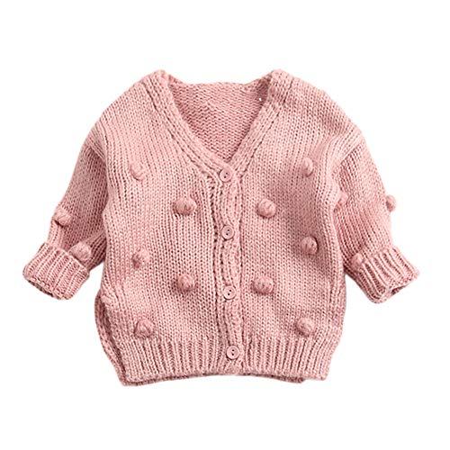 feiXIANG Baby Kinder Strickjacke Mantel Mädchen Jacke Kinder Strickoberteile Pullover Winter Langarm Outwear