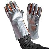 HUBINGRONG 932 ° Extremo Guantes resistentes al calor Anticortador, resistente al...