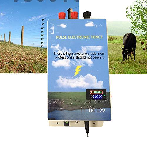 wansosuper Elektrozaun 220V,Elektrischer Zaun Marder,Elektrozaun Elektrozaun Elektrozaun Landmaschinen,Kann WildschweinschäDen Beim HäNdler Wirksam Verhindern,Blue -