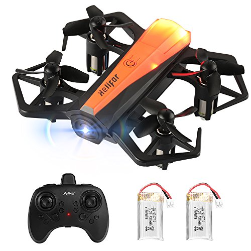 HELIFAR H802 Mini Drone, quadricottero RC con giroscopio a 6 Assi, Altitude Hold e Headless Mode, rotellante a 360°, One-Key-Ruturn Facile da Controllare per i Principianti, con Due batterie