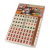 MagiDeal Mini Mahjong-Spiel Chinesische Traditionelle Spiel Partyspiel Elfenbein