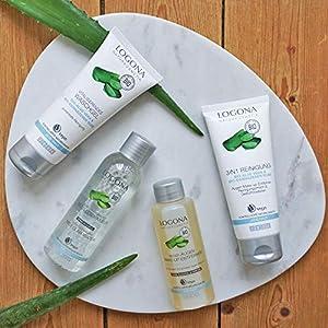 Logona cosmetici naturali Reinig mizell corrente d' acqua, Libera la pelle delicata & porentief di Make Up & sporco, spiega la pelle, vegan, 125ML