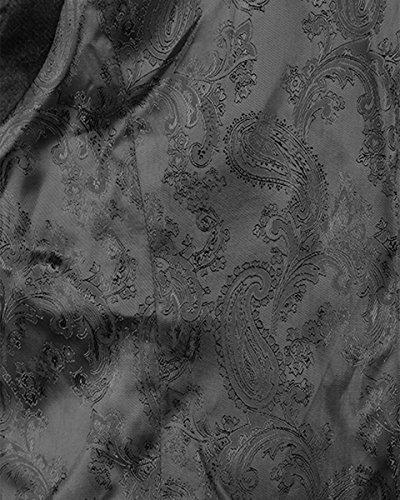 vintage gotico aristocratico gilet da uomo blu damascato in velluto Steampunk Punk Rave