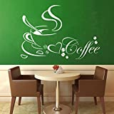 DreamKraft Coffee Cup Wall Sticker For Kids Room |Living Room|Bedroom|Office PVC Vinyl Art Decals(40X25 Inch)
