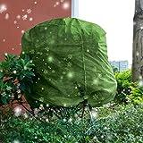 Steadyuf Cappuccio Protezione Piante, Sacco di Protezione Invernale per Piante Verde, Non Tessuto Protezione Antivento Traspirante Non Assorbente Telo di Protezione Antigelo per Inverno