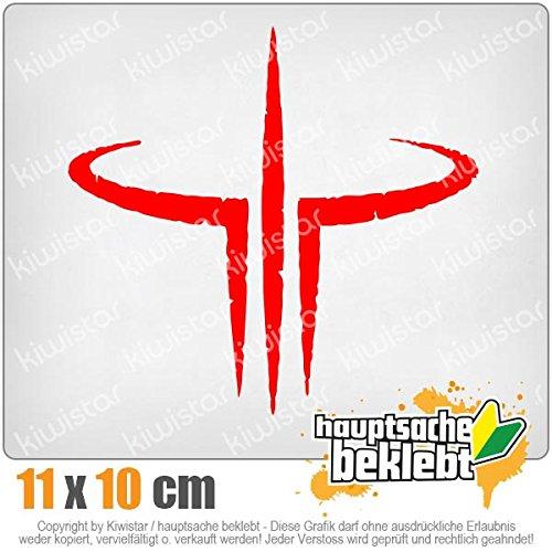 KIWISTAR Aufkleber - Quake Logo Spiel - Autoaufkleber Sticker Bomb Decals Tuning Bekleben
