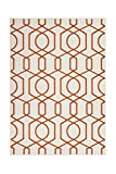 Teppich Wohnzimmer Carpet Geometrie Design Now! 400 Rug Netz Muster Polypropylen 160x230 cm Beige/Teppiche günstig online kaufen