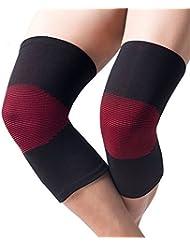 Simonshop 1paire Spors respirant support de genou Genouillère d'entraînement élastique Genouillères pour course à pied d'escalade