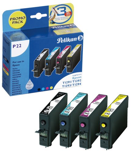 Preisvergleich Produktbild Pelikan Druckpatronen PromoPack P22 T1291/ T1292/ 1293/ T1294