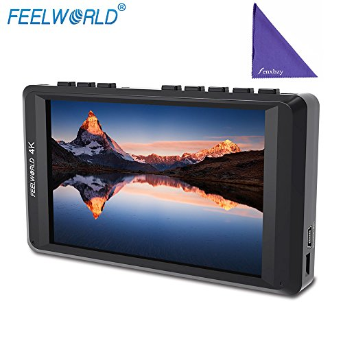 """Feelworld FW450 4.5\"""" 4K on-Camera Monitor with HDMI Input/Output IPS HD 1280x800 Portable LCD Monitor for DSLR with Peaking Focus Check Field"""