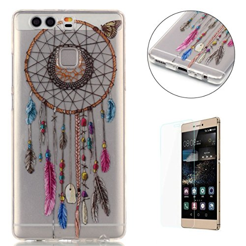 huawei-p9-silicone-gel-case-with-free-screen-protectorcasehome-crystal-clear-shock-proof-soft-durabl