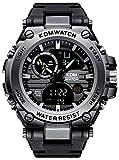Montres Hommes Montre Digitale de Militaire Étanche Sport Alarme Chronomètre pour...