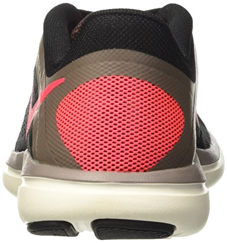 Nike Wmns Flex 2016 Rn, chaussures de course femme Noir (Black / Hot Punch / Dark Mushroom / Sail)