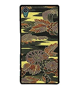 PrintVisa SONZ5-Flower Pattern Metal Back Cover for Sony Xperia Z5