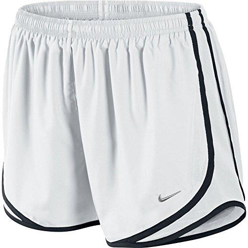 Nike Tempo Short pour femmes White/Black/Matte Silver